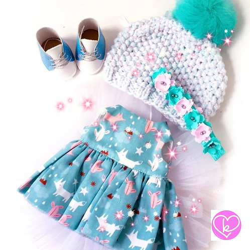 Pretty Blue Woodland - Made to Order - Extra Outfit Set