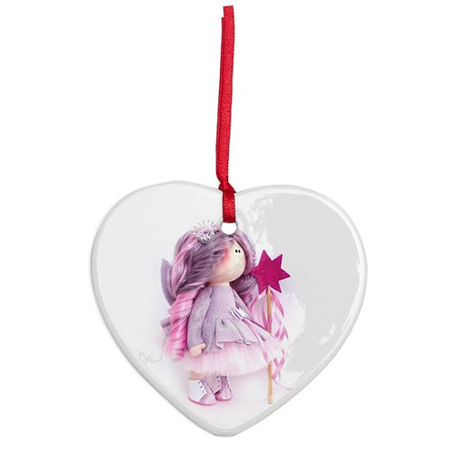 Fairy Godmother - Heart Shaped - Christmas Decoration