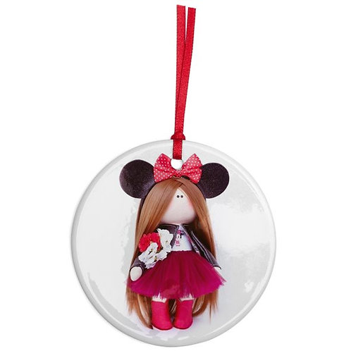 Beautiful Minnie - Round Shaped - Christmas Decoration