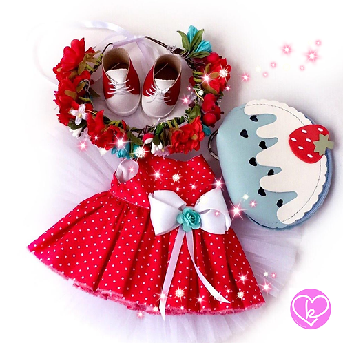 Christmas Flower - Made to Order - Extra Outfit Set