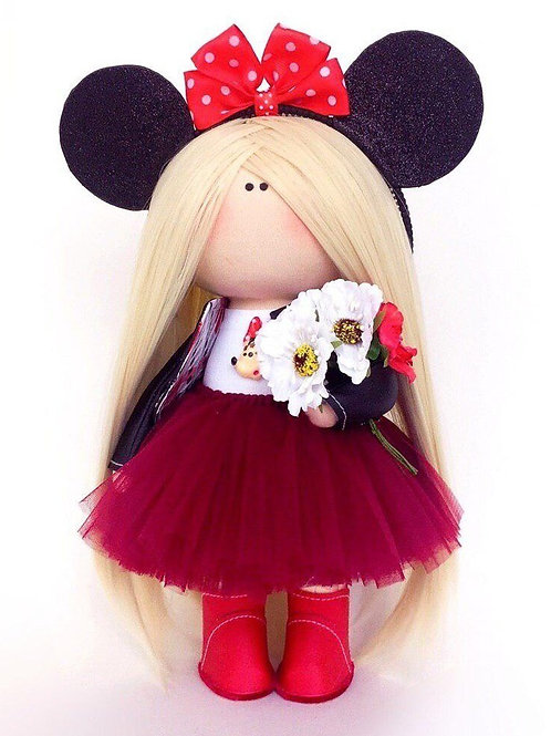 Beautiful Minnie Doll - Made to Order - Handmade Doll