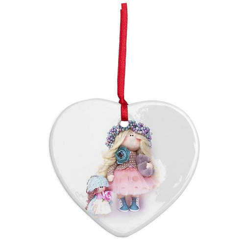Mummy and Me - Heart Shaped - Christmas Decoration