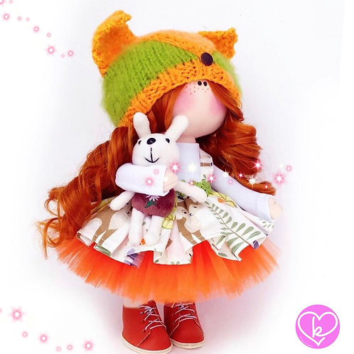 I smell just like Autumn - Made to Order - Handmade Doll