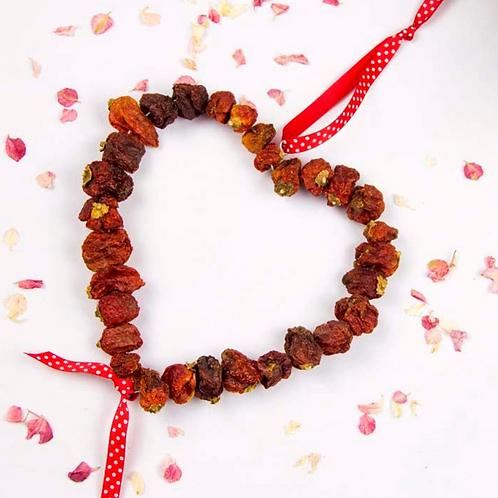 Beautiful Dried Chilli Heart - Handmade