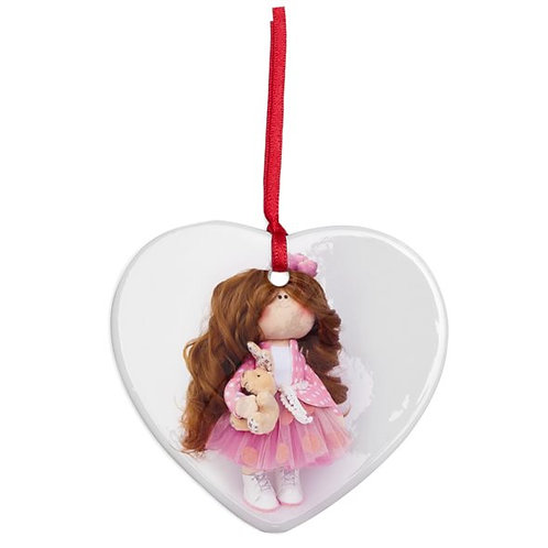 Little Miss Kind - Heart Shaped - Christmas Decoration