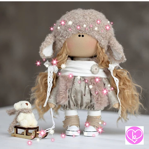 Pretty Lea - Ready to Go - Handmade Doll - 2020 Collection