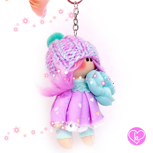 Little Miss Courage - Made to Order - Handmade Doll Keychain