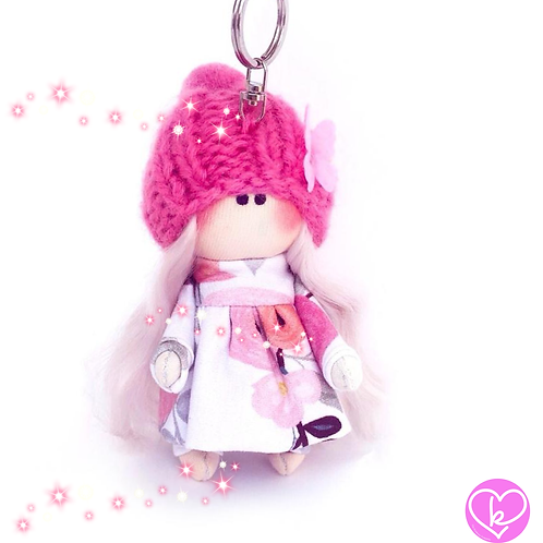 Little Miss Confident - Made to Order - Handmade Doll Keychain