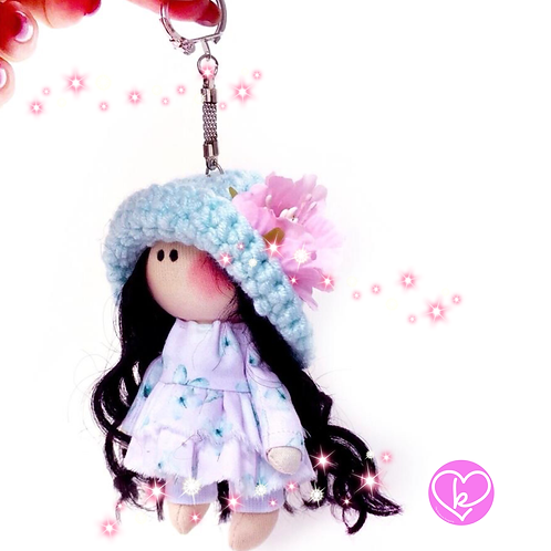 Holly - Made to Order - Handmade Doll Keychain