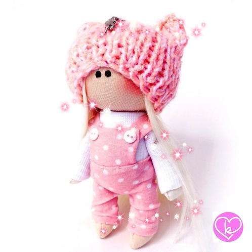 Leah - Made to Order - Handmade Doll Keychain