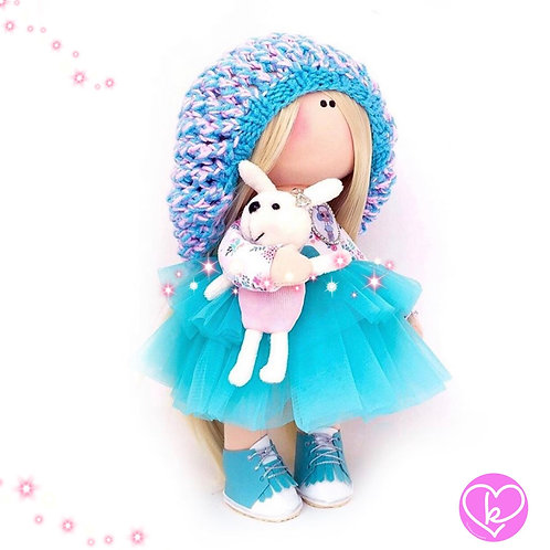 Its a blue hat day - Made to Order - Handmade Doll