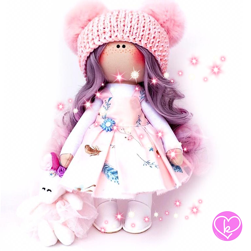 Beautiful Summer Flowers - Made to Order - Handmade Doll