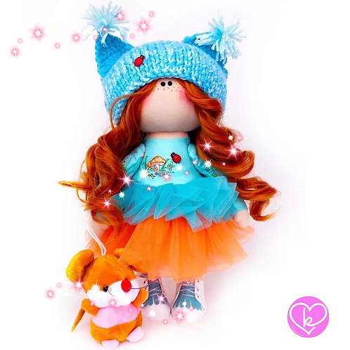 Autumn is my favourite time of year - Made to Order - Handmade Doll