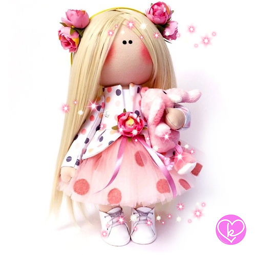 Be Kind, you never know who might need a Hug - Made to Order - Handmade Doll