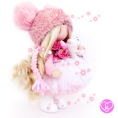 Pink Princess - Made to Order - Handmade Doll