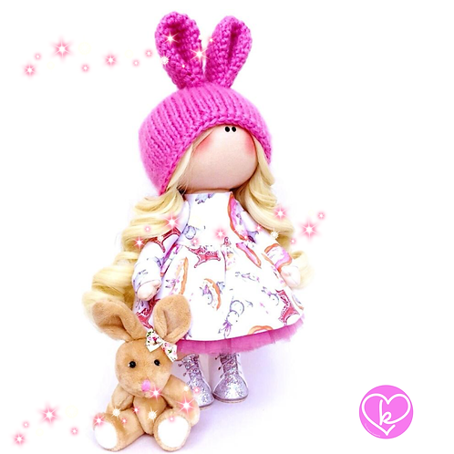 Pretty Bunny - Made to Order - Handmade Doll