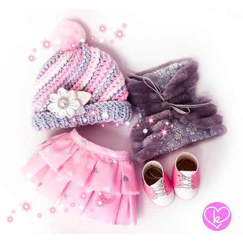 Sparkly Pink - Made to Order - Extra Outfit Set