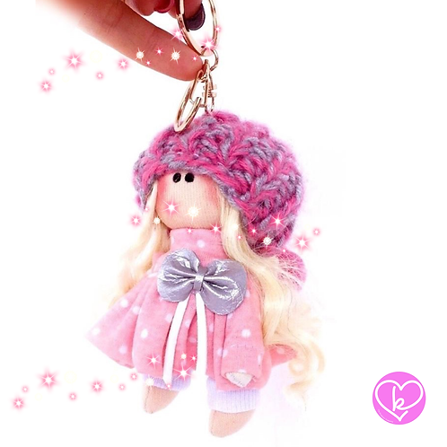 Full of Love - Made to Order - Handmade Doll Keychain