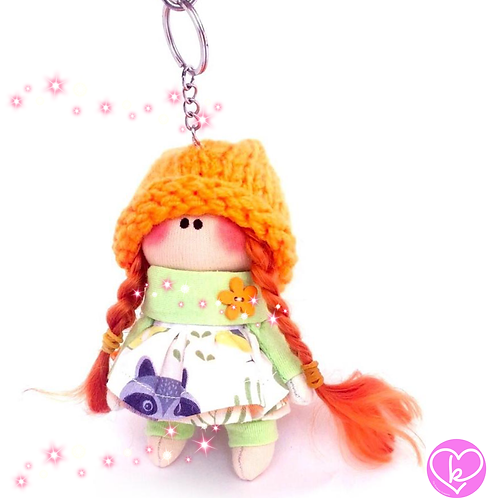 Little Miss Brave - Made to Order - Handmade Doll Keychain