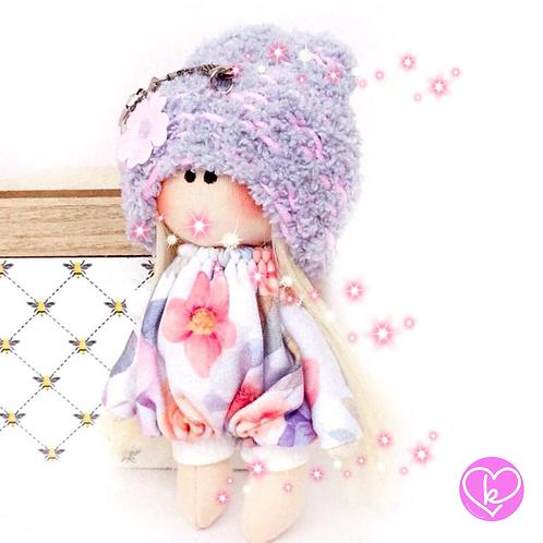Pretty Lilly  Angel - Ready to go - Handmade Doll Keychain
