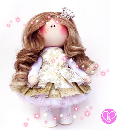Pretty Pincess - Made to Order - Handmade Doll