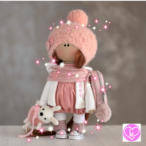 Pretty Tia - Ready to Go - Handmade Doll - 2020 Collection