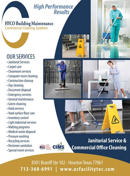 Janitorial Services|Houston|Hyco Building Maintenance