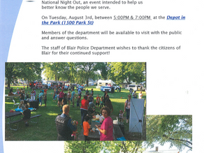 Blair National Night Out