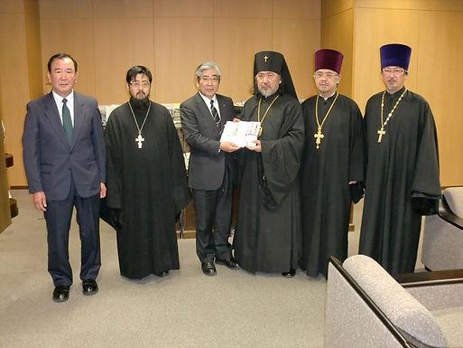 石巻正教会旧会堂の再建支援金寄贈