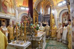 記念聖体礼儀の至聖所の様子