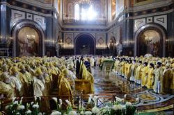 救世主大聖堂での聖体礼儀