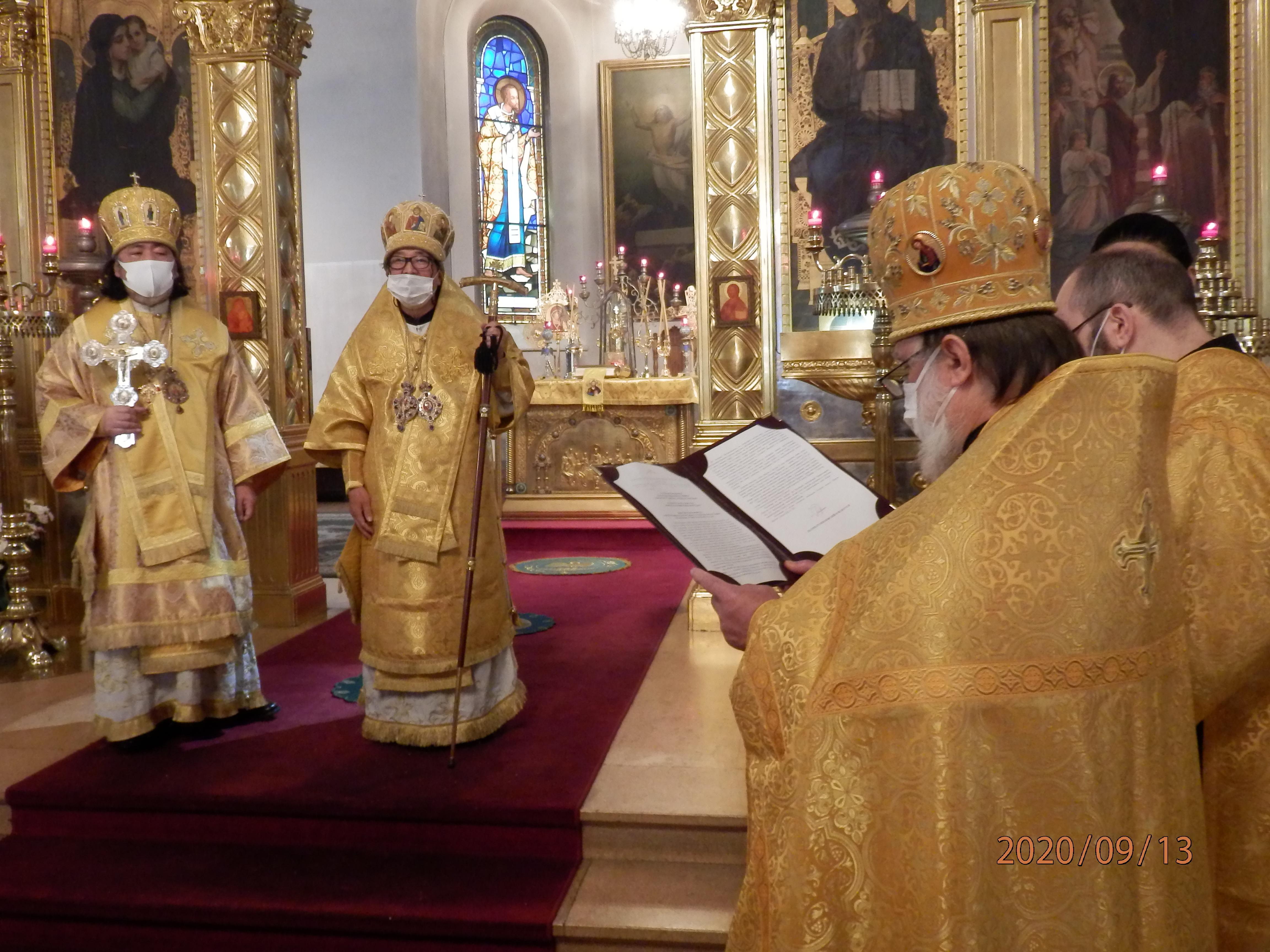 総主教聖下祝辞の朗読