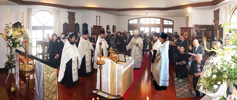 石巻正教会聖堂でのパニヒダ