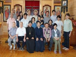 遠野正教会会堂での開会祈祷