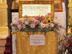 堂の中央に据えられた聖ニコライ不朽体