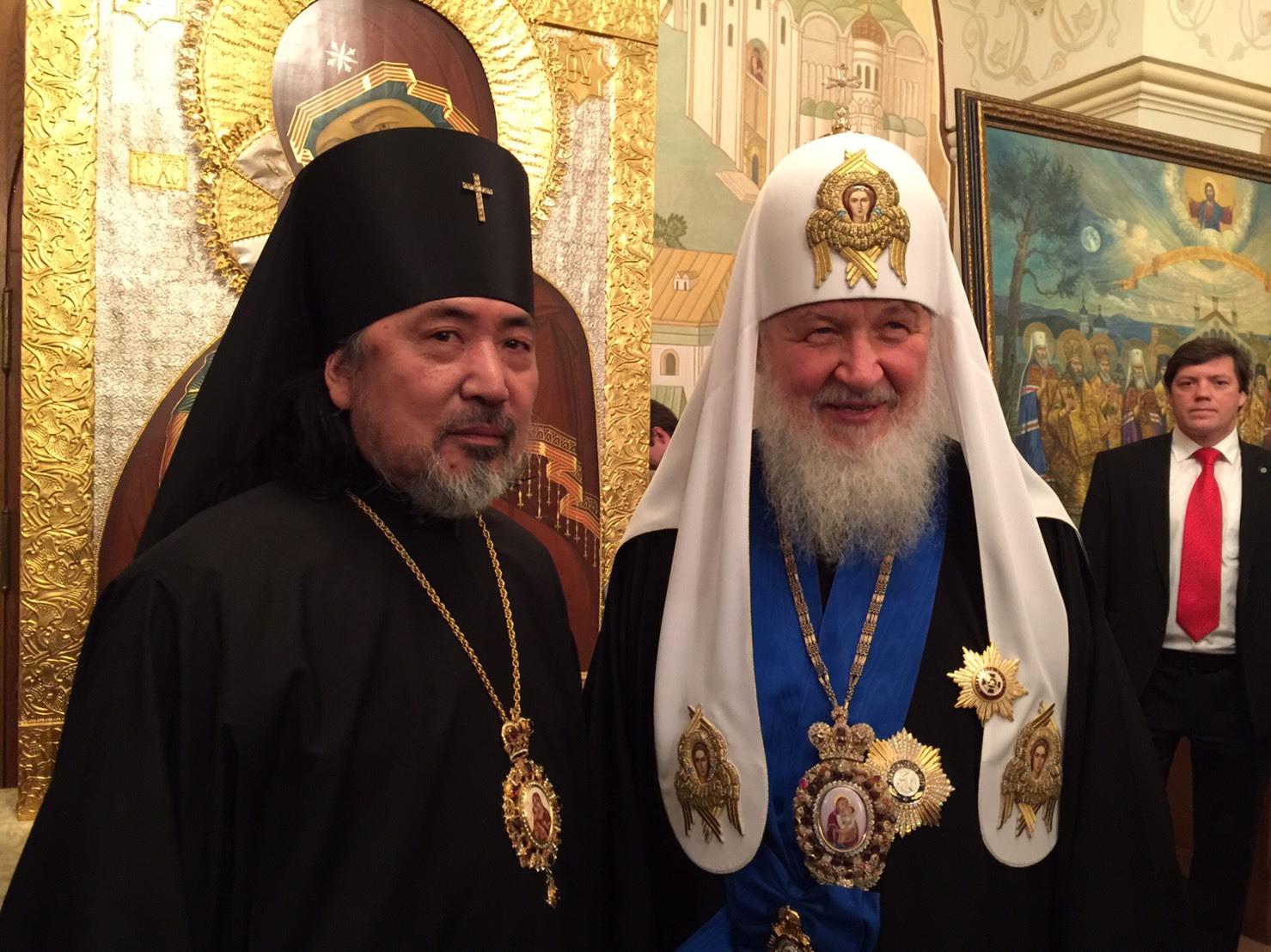 総主教聖下とセラフィム大主教座下