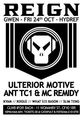 Reign Cardiff Kyam Ulterior Motive Ant TC1