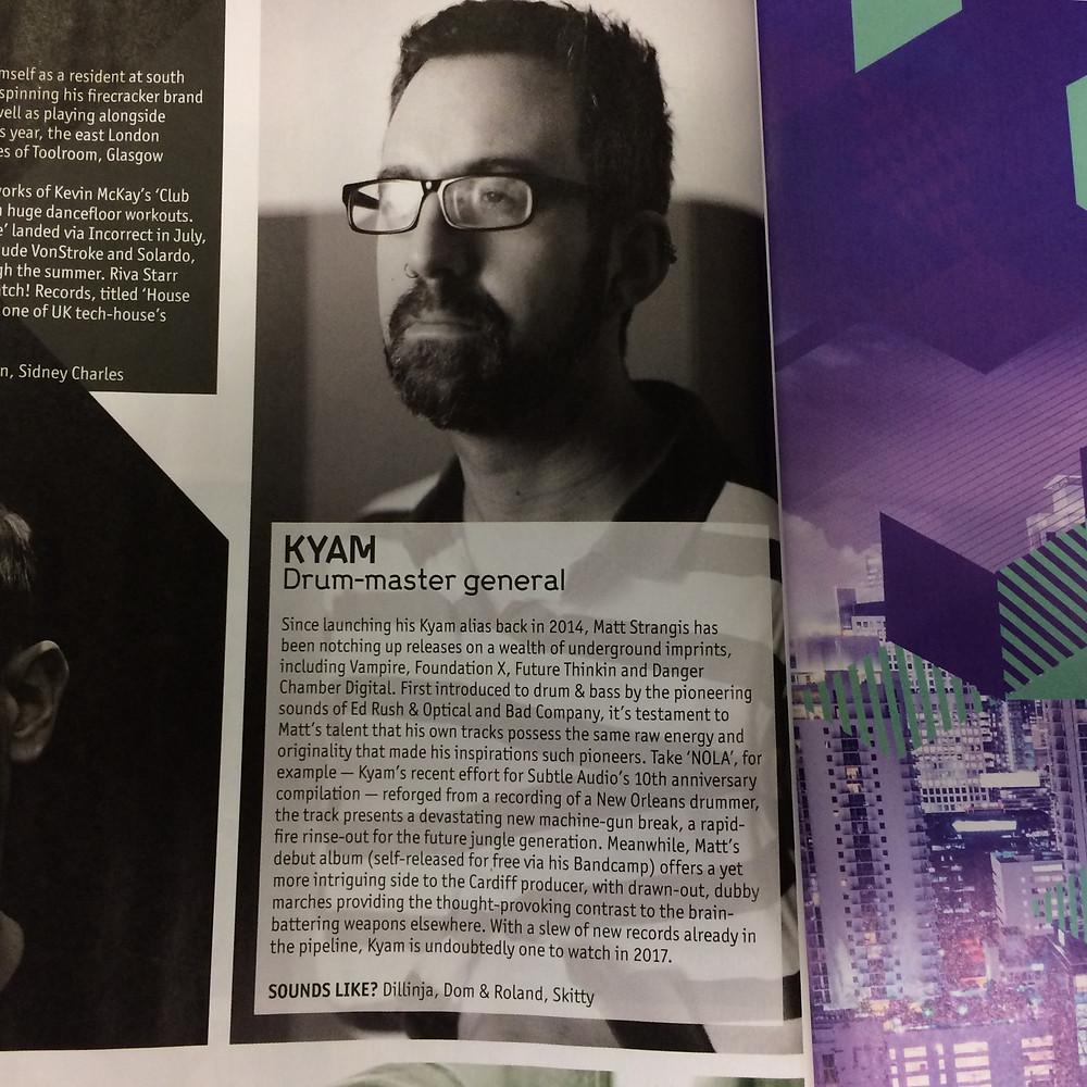 DJ Mag Kyam feature - Nov 2016