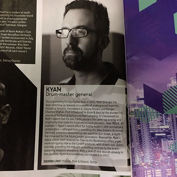 Kyam DJ Mag feature - Nov 2016