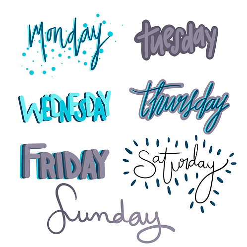 Days of The Week Sticker Pack