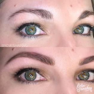 Medium brown _ brow shaping