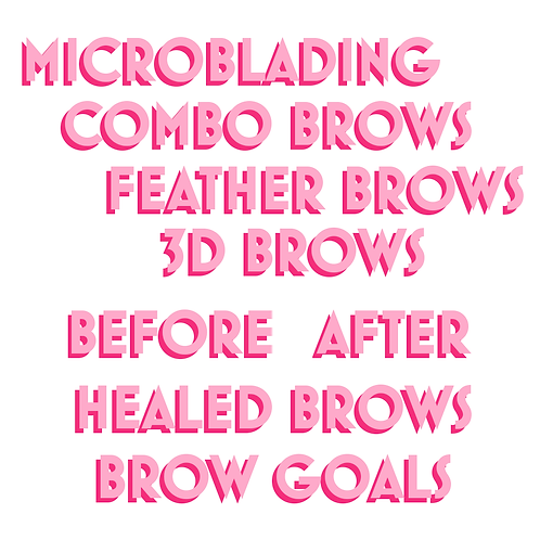 Microblading Sticker Pack