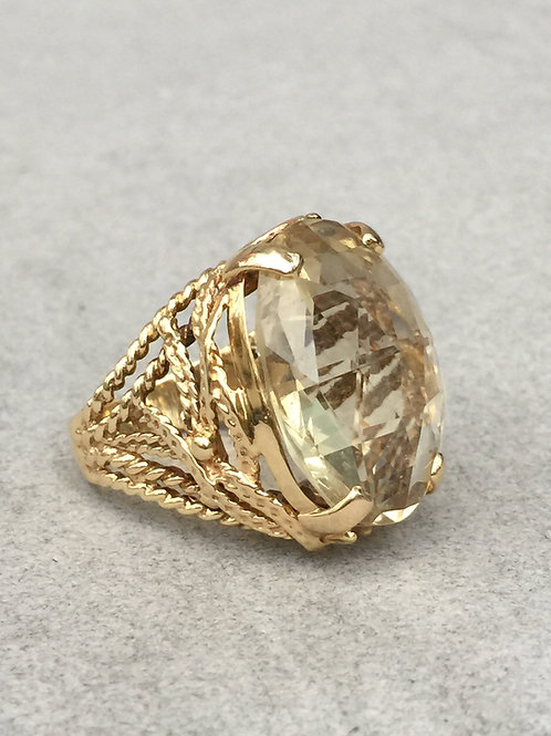 14k Yellow Gold & Citrine Cocktail Ring