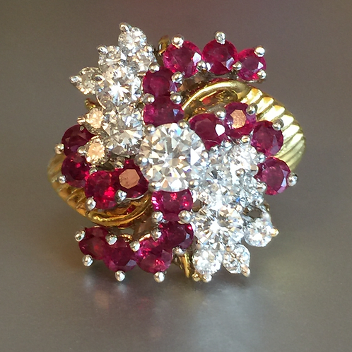 Vintage Diamond & Ruby Dinner Ring