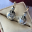 Thumbnail: Antique silver & gold rose cut diamond earrings