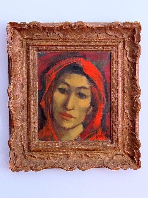 1960's Jan deRuth Oil Canvas Portrait Painting