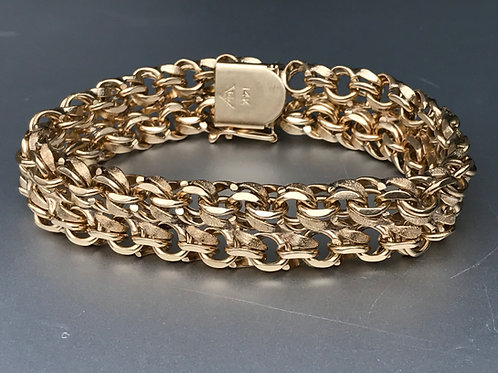 14K Yellow Gold Double Charm Bracelet