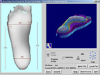 Foot Scan Archway Orthotics