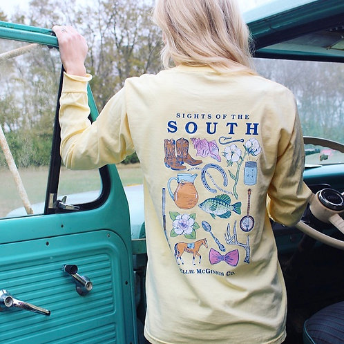Sights of the South - Long Sleeve on Butter