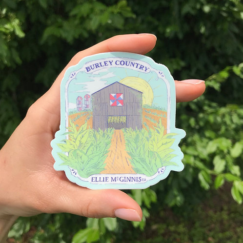 Small Burley Country Sticker